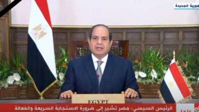 السيسي: مصر انضمت إلى تحالف التغذية المدرسية اقتناعا بأهمية توفير الغذاء