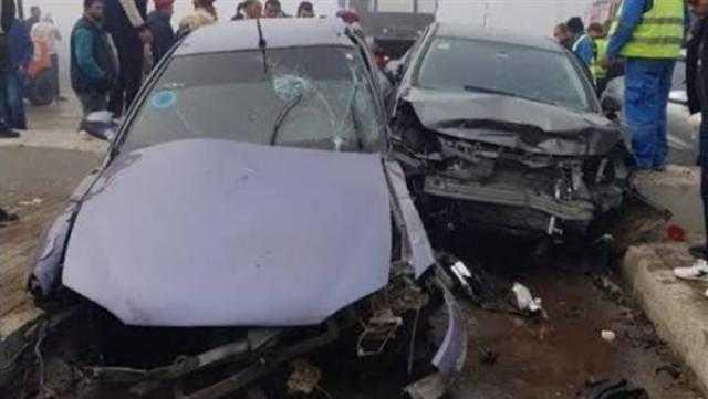 عاجل.. إصابة 8 أشخاص من أسرة واحدة إثر انقلاب سيارة في كفر الشيخ
