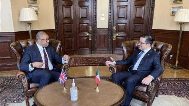 عاجل.. وزير الخارجية الكويتى يلتقى جيمس كليفرلى خلال زيارته للمملكة المتحدة