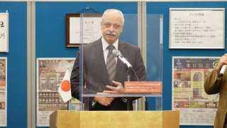 سفير القاهرة في طوكيو يروج للمتحف المصري الكبير