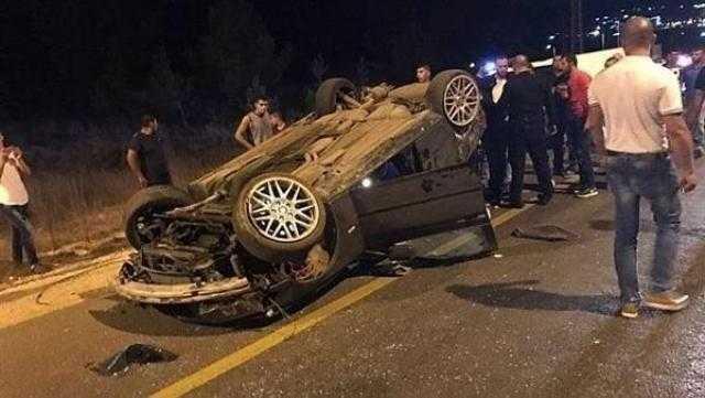 عاجل.. إصابة 3 أشخاص في انقلاب سيارة بالطريق الصحراوي بأطفيح