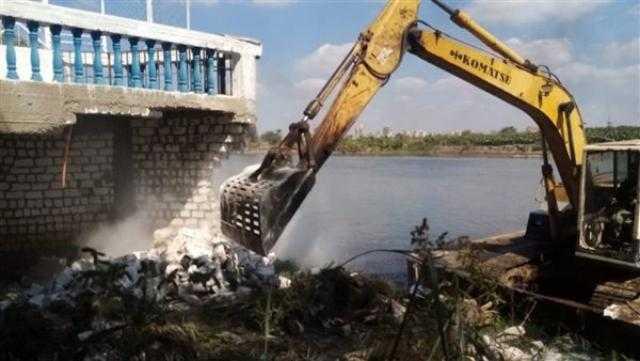 إزالة 8000 حالة تعد على نهر النيل والمجاري المائية