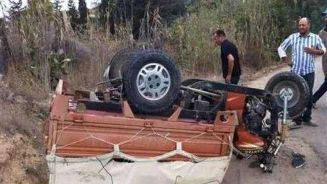 عاجل.. مصرع سيدة وإصابة 4 أشخاص في حادث تصادم بالحامول