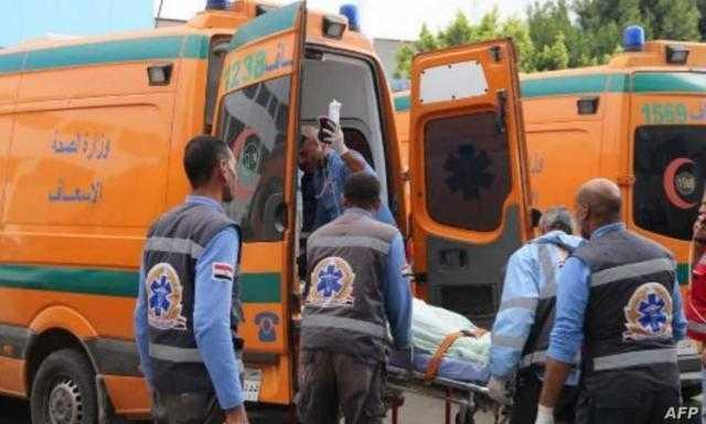 إصابة ربة منزل في حادث تصادم بسوهاج